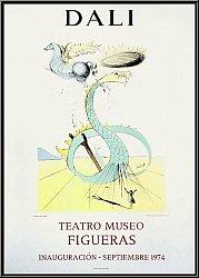 Salvador Dali: Original Poster Teatro Museo Figueras 1974, 'Dan' (Snake), Twelve Tribes of Israel - Mourlot