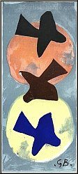 Georges Braque: Soleil et lune I (Sun And Moon I) Lithograph 1959