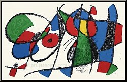 Joan Miro: Sleeping Lion 1975 Limited Edition Original Lithograph VIII