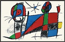Joan Miro: Happy Cat, 1975, Limited Edition Original Lithograph VI