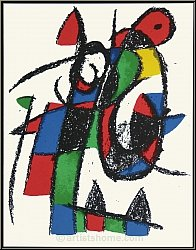Joan Miro: Melancholic Donkey, 1975, Limited Edition Lithograph II