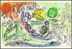 Marc Chagall: The Concert 1957, Original Lithograph, Paris Opera house, Music - Prints | Original graphic work