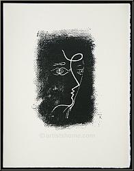 Georges Braque: Original Lithograph Profil de femme 1955, Mourlot