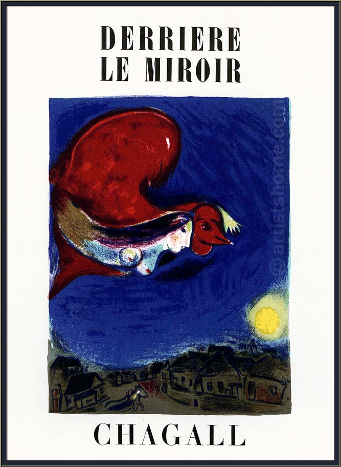 Marc chagall derriere le miroir no 27 28 1950 with 2 for Derrier le miroir