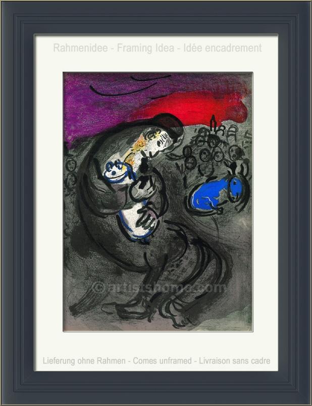 Marc Chagall: Jeremiah's Lamentations, 1956, Original ... Chagall Gouaches Jeremia