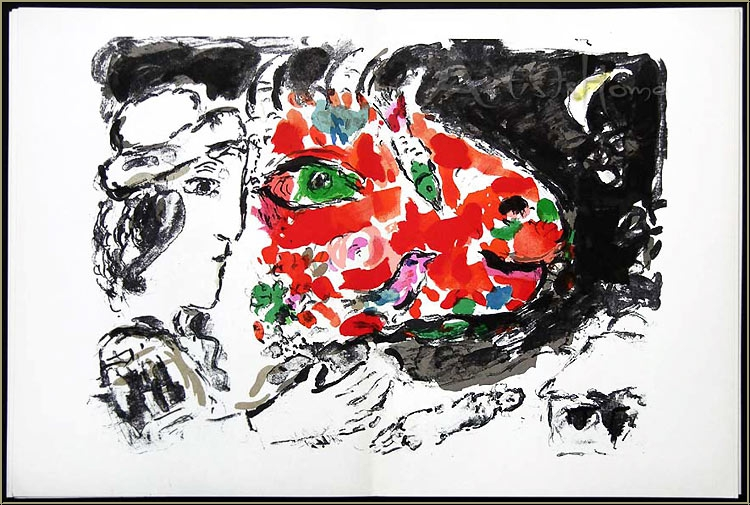 Marc chagall 1972 derriere le miroir 198 3 original for Derriere le miroir
