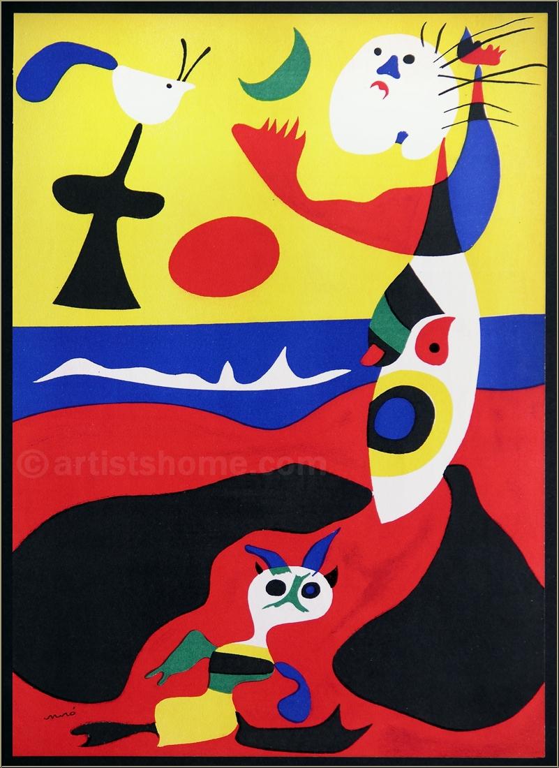 """Joan Miro: Summer (""""L'été""""), 1938, Original Lithograph, Mourlot ..."""