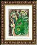 Marc Chagall: Paradise With Green Donkey, 1960, Original Lithograph, Illustrations for the Bible, Adam and Eve