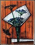 Bernard Buffet: Les ombelles 1972 Original Lithograph Arches Mourlot