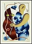 Fernand Léger: Femme tenant une fleur, 1955 - Lithograph Mourlot