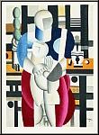 Fernand Léger: Femme et enfant, 1955 - Cubism, Lithograph Mourlot