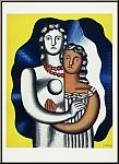 Fernand Léger: Les deux figures, 1955, Lithograph Mourlot