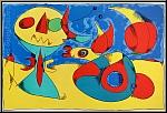 Joan Miro: Zephyr Bird 1956, Large Original Lithograph, ready to frame