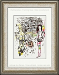 Marc Chagall: 'Acrobats at Play' (Le Jeu des Acrobates) 1963, Original Lithograph | Graphic Works | Prints