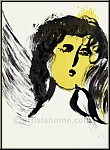 Marc Chagall: The Angel, 1956, Original Lithograph Verve The Bible