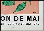 René Magritte: Musée d'Art Moderne, 1965, Salon de Mai, Original Lithograph 'L'envolée' (The Flight), Mourlot