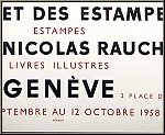 Georges Braque: Poster Galerie Nicolas Rauch 1958, Lithograph Mourlot