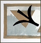 Georges Braque: Lithograph Les martinets, common swifts, 1959