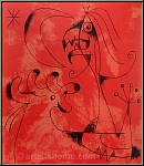 Joan Miro: The Wizard, 1956, Original Lithograph, Moon and Star