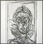 Alberto Giacometti: Annette de face, 1956, Original Etching