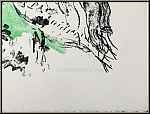 Marc Chagall: Lovers with Bird, 1969, Rare Original Lithograph (Mourlot 587) - Genuine Prints | Graphic Works