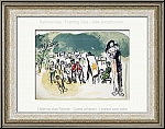 Marc Chagall: Original Lithograph 'Homage to Julien Cain' Lovers and Painter, 1968 - Prints | Graphic work