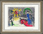 Marc Chagall: 'Sun With Red Horse' Soleil au cheval rouge, Original Lithograph 1979, Circus - Graphic work