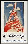 Robert Delaunay: Eiffel Tower 1956 Galerie Beyeler, Lithograph Mourlot