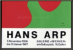 Jean Arp (Hans Arp): Original Lithograph Galerie im Erker 1966, stamp-signed, Exhibition Poster | Prints