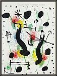 Joan Miro: Untitled Composition on wove paper 1966 Original Lithograph