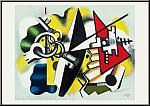 Fernand Léger: Nature morte aux clefs, 1955 - Lithograph, Mourlot