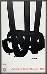 Pierre Soulages: Original Lithograph No 29 Olympic Games 1972, Mourlot