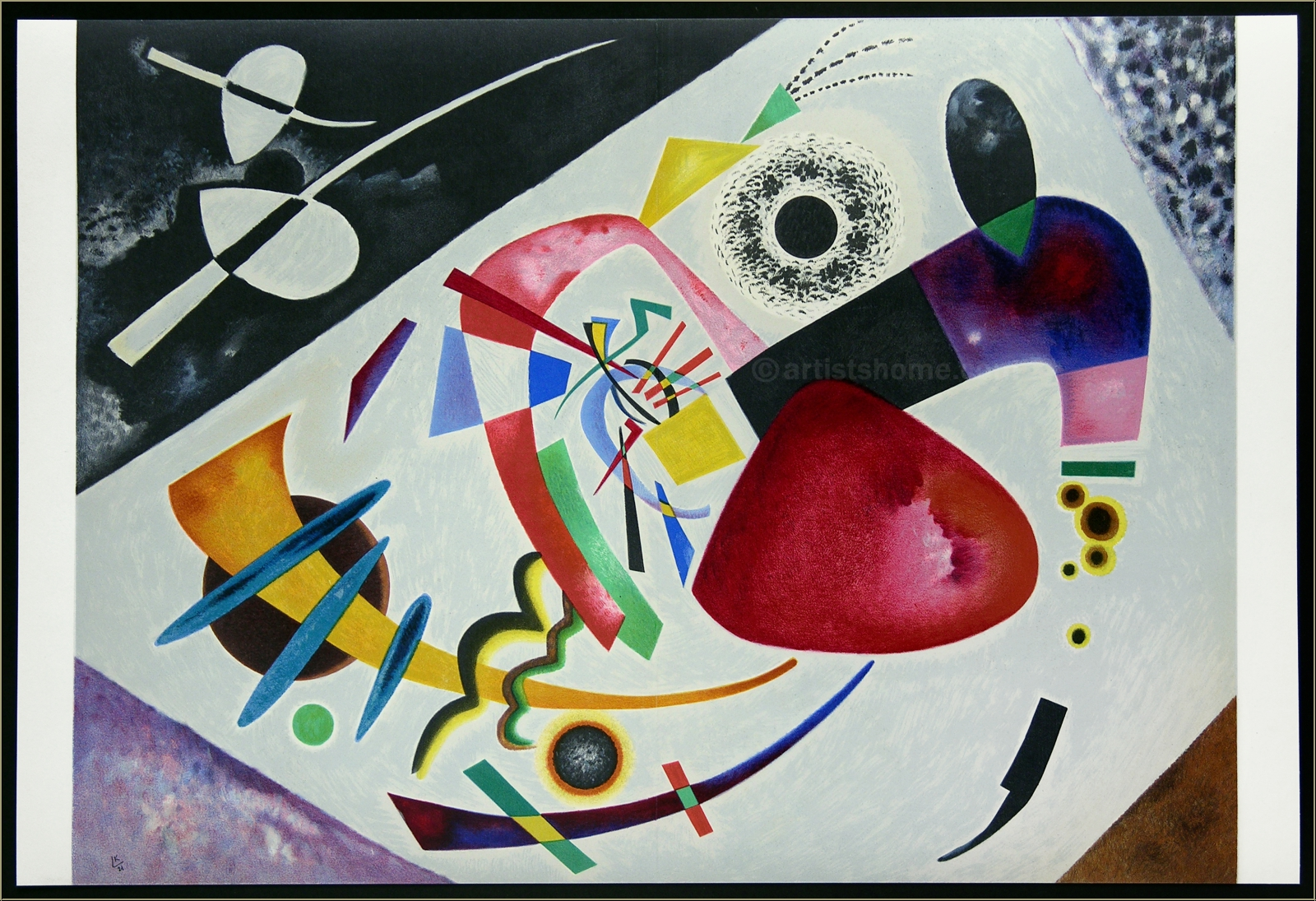 """Wassily Kandinsky Lithograph """"Red Spot II"""" Tache Rouge Maeght 1960"""
